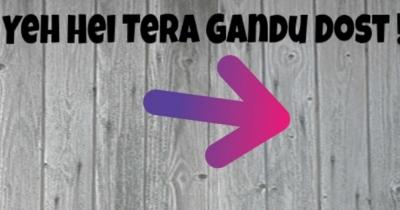 Who is Your Gandu Friend?