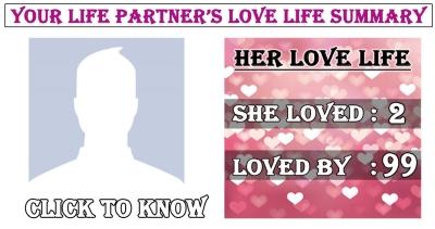 Your Future Husband/Wife's love life summary